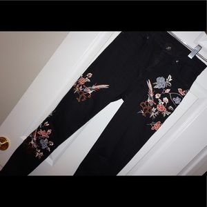 Top Shop Skinny Jeans with Embroidery